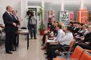 Виктор Хрестин поздравил сотрудников геленджикского аэропорта с профессиональным праздником