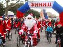 Деды Морозы в Геленджике пересели на велосипеды